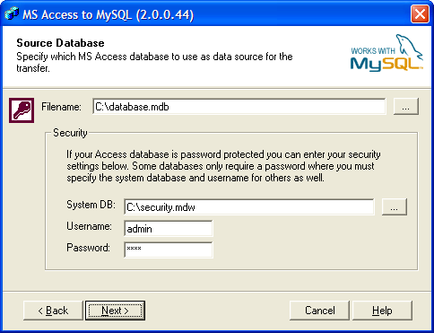 Bullzip Access To Mysql Screenshot 1