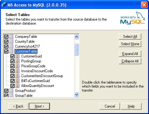 Bullzip Access To Mysql Screenshot 3