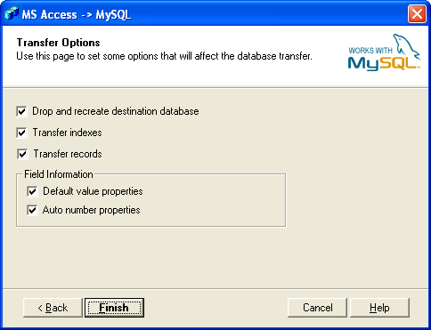 Bullzip Access To Mysql Screenshot 4