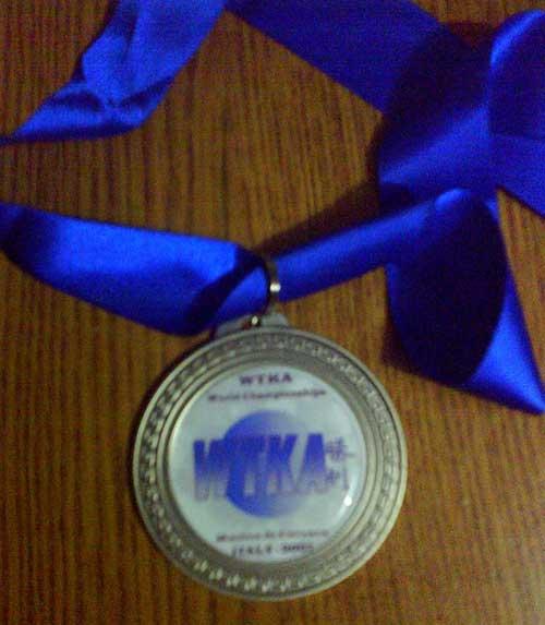 Medaglia d'argento Rabbi Massimo Light Contact +91kg - Mondiali WTKA IAKSA 2007 Marina di Carrara