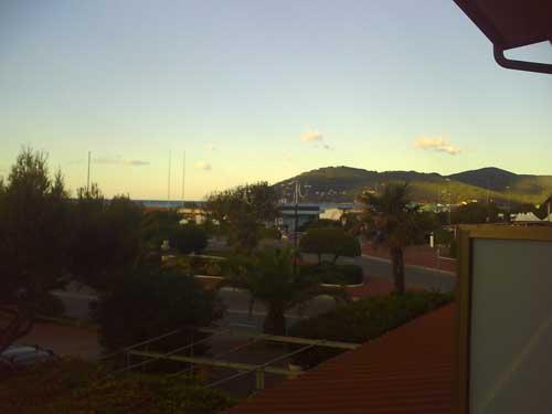 Vista sul mare dall'albergo