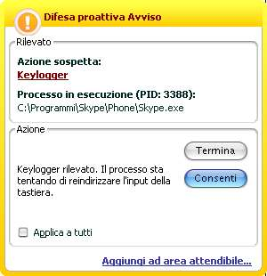 Skype segnalato come keylogger da Kaspersky Internet Security