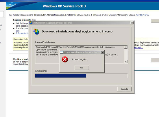 Windows XP SP3 Problemi 1