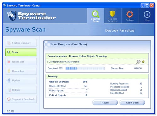 Spyware Terminator 1.8.4.965 Screenshot